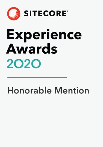 Sitecore Experience Awards Honorable Mention 2020