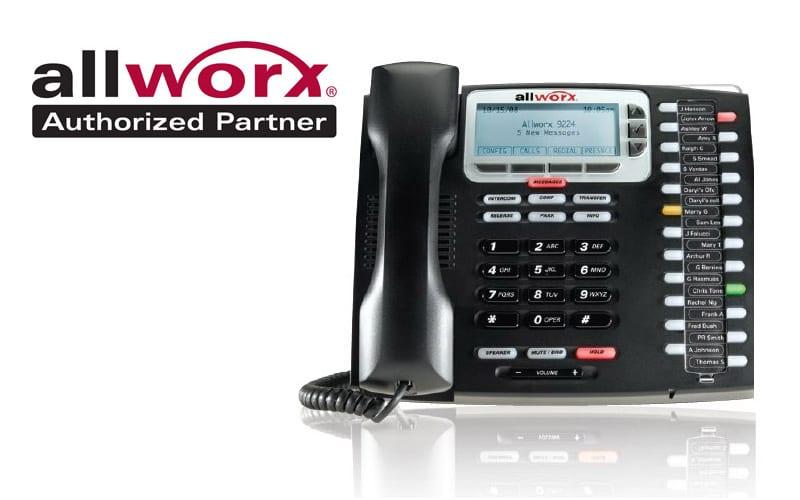 AllWorx Authorized Partner Logo and Phone