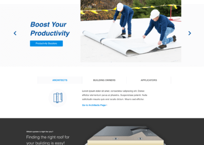 Carlisle Syntec Home Page Design