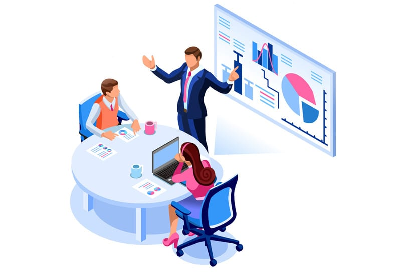 Businessman Consulting Presentation Illustration