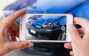 Insurance Photo of Accident on Mobile Device