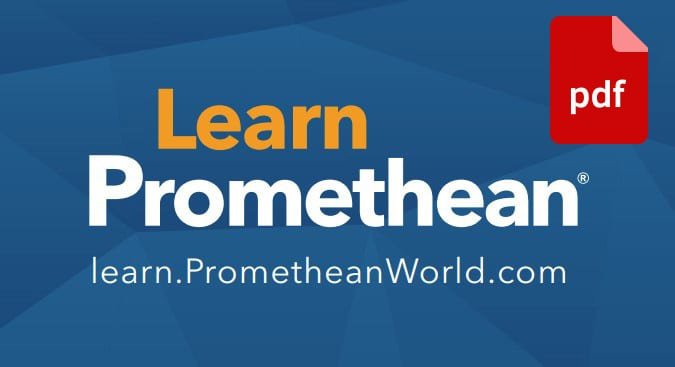 Learn Promethean Logo with PDF Icon