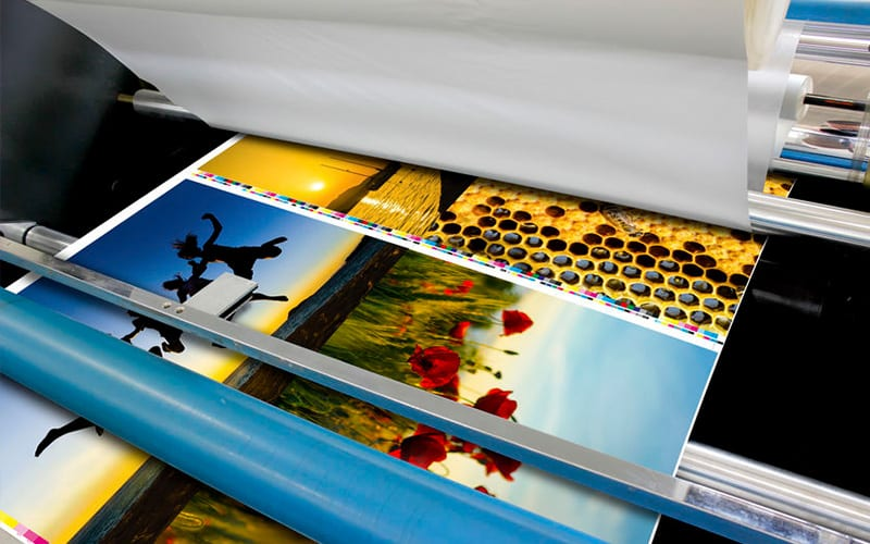 Printing Press Rollers In Action Photo