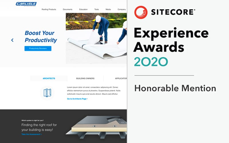 Sitecore Experience Awards Honorable Mention CCM