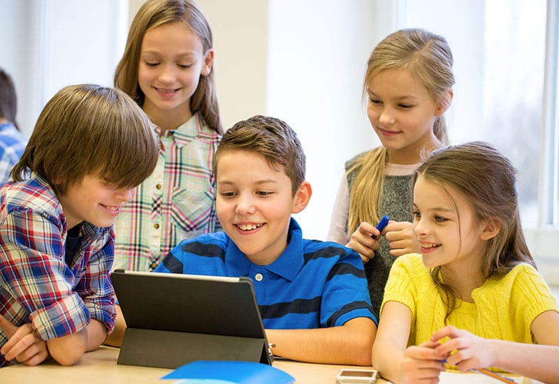 Students on Learning on a Surface Pro Tablet IT HelpDesk
