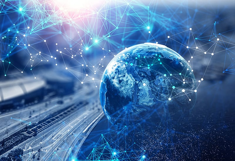 Innovation technology landscape concept digital network