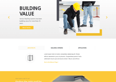 Versico Home Page Design Mockup